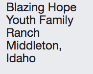Blazing Hope Youth Family Ranch